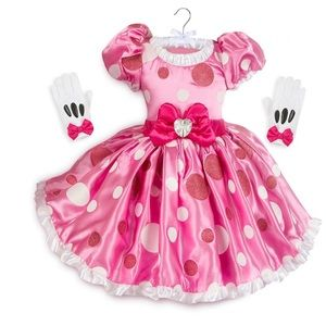 Disney Parks Minnie Mouse Dress with Gloves